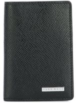 HUGO BOSS textured fold wallet - men - Calf Leather/Polyester - One Size