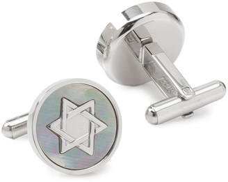 Cufflinks Inc. Men's Star of David Mother-of-Pearl Cufflinks