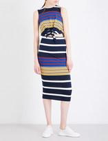KENDALL + KYLIE Kendall & Kylie Striped waist-tied jersey dress