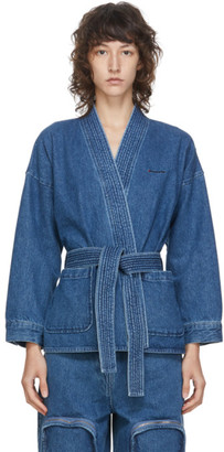 pushBUTTON Blue Denim Kimono Jacket