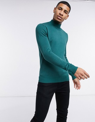 Gianni Feraud premium muscle-fit stretch high turtleneck jumper