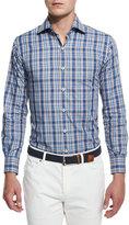 Peter Millar Mackinaw Tartan Long-Sleeve Sport Shirt