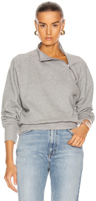 Marissa Webb So Uptight Funnel Neck Zip Sweatshirt in Heather Grey | FWRD