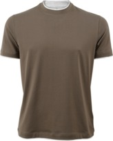 Brunello Cucinelli Double Layered Look T-Shirt