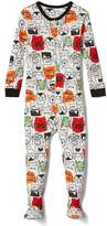 Gap Halloween monsters footed sleep one-piece
