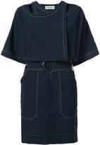 Derek Lam 10 Crosby stitch half sleeve mini dress - women - Polyamide/Lyocell - 0