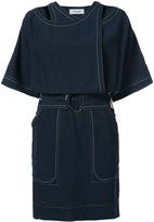 Derek Lam 10 Crosby stitch half sleeve mini dress