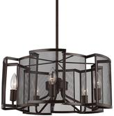 Feiss Gemini 5-Light Heritage Bronze Chandelier