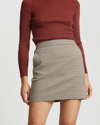 Mng Women's Brown Mini skirts - Charlott Skirt - Size XL at The Iconic