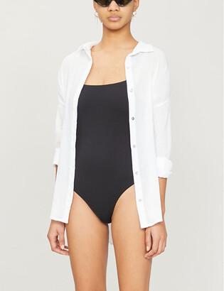 Seafolly Classic cotton beach shirt