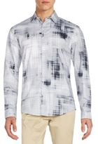 Calvin Klein Slim-Fit Blur Plaid Sportshirt