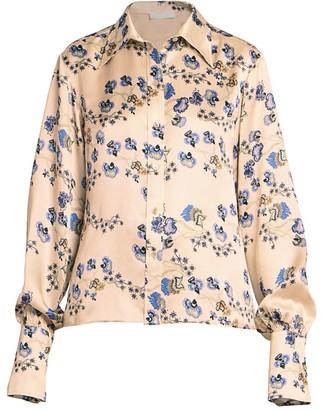 Chloé Silk Floral Print Blouse