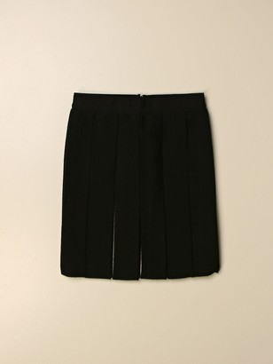 Burberry Pleated Skirt With Striped Interior