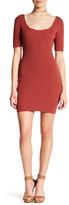 Glamorous Ribbed Knit Short Sleeve Dress