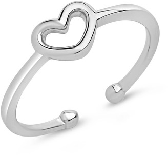 Sterling Forever Sterling Silver Open Heart Ring