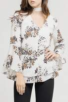 Blu Pepper White Floral Blouse