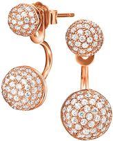 Folli Follie Fashionably Rose Gold Oval Drop Earrings