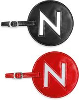 """Initial """"N"""" Luggage Tag in Red"""