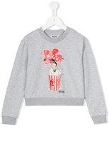 Moschino Kids popcorn print sweatshirt