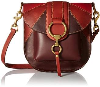 Frye Ilana Color Block Saddle Crossbody Leather Bag