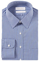 Roundtree & Yorke Gold Label Non-Iron Slim-Fit Point Collar Checked Dress Shirt