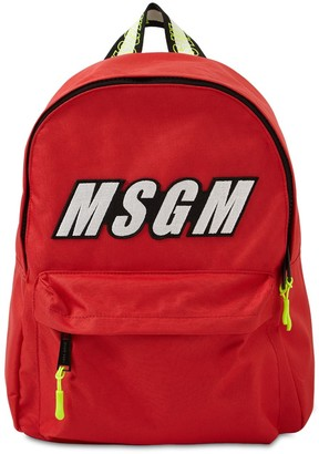 MSGM Logo Nylon Backpack