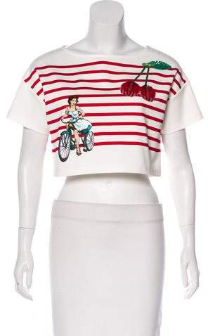 Dolce & Gabbana Embellished Crop Top w/ Tags