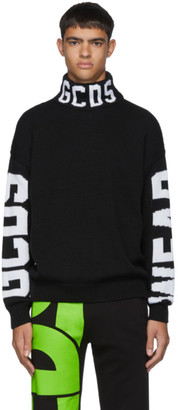 GCDS Black Logo Turtleneck