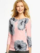 Talbots Peonies-Print Sweater