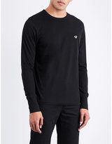True Religion Black Ribbed Classic Metallic Logo-detail Cotton-jersey T-shirt