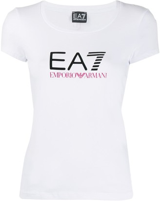 EA7 Emporio Armani fitted logo print T-shirt