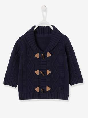 Vertbaudet Cable Knit Cardigan with Shawl Collar, for Baby Boys
