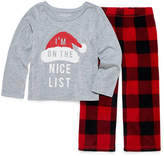 North Pole Trading Co North Pole trading Co. Checkin it Twice Microfleece Famly Pajama Set - Girls