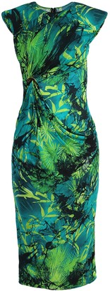 Versace Green Jungle Print Jersey Dress