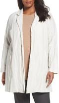Eileen Fisher Plus Size Women's Notch Collar Long Jacket
