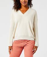 Carve Designs Women's Pullover Sweaters Birch - Birch Aurora V-Neck Wool-Blend Sweater - Women