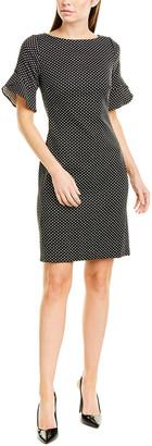 Karl Lagerfeld Paris Polka Dot Shift Dress