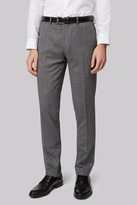 Moss Bros Skinny Fit Black & White Donegal Pants