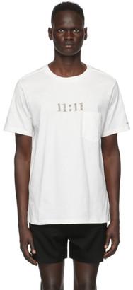 TAKAHIROMIYASHITA TheSoloist. White 11:11 T-Shirt