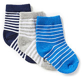 Starting Out Baby Boys 3-Pack Striped Socks