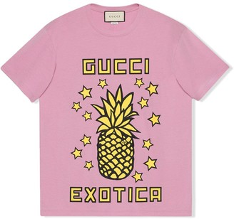 Gucci Exotica pineapple-print T-shirt