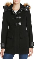 Andrew Marc Paxton Faux Fur Trim Toggle Coat