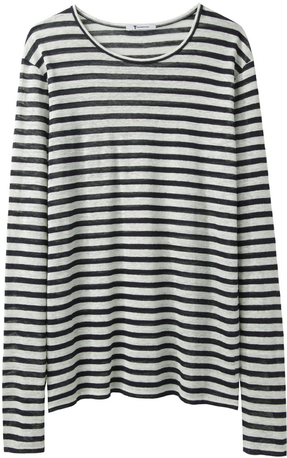 Alexander Wang Linen Stripe Long Sleeve