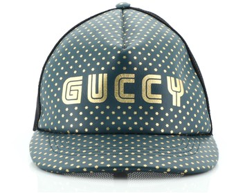 Gucci Baseball Cap Printed Leather XL