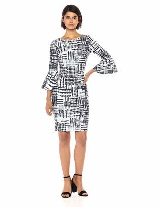 Calvin Klein Women's 3/4 Peplum Sleeve Sheath Dress