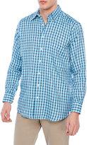 Mine Linen Grid Button-Down Shirt