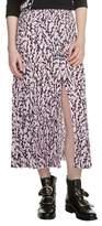 Maje Javina Pleated Midi Skirt