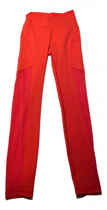 Lululemon Orange Spandex Trousers