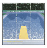 Hockney, Day Pool with 3 Blues Poster