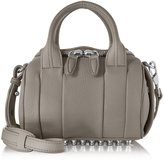 Alexander Wang Mini Rockie Matte Mink Gray Pebbled Leather Satchel